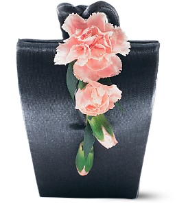 Cascading Carnations Purse Corsage in Winnipeg MB, Cosmopolitan Florists