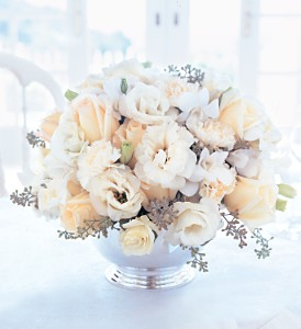 Ivory Centerpiece in New York NY, CitiFloral Inc.