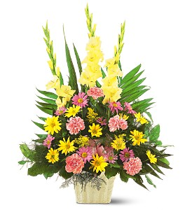 Warm Thoughts Arrangement in Mount Morris MI, June's Floral Company & Fruit Bouquets