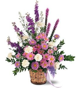 Lavender Reminder Basket in Randallstown MD, Raimondi's Funeral Flowers