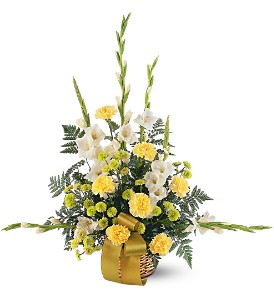Vibrant Yellow Basket in Evansville IN, Cottage Florist & Gifts