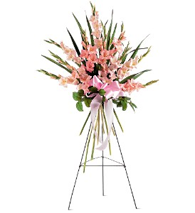 Sentimental Gladioli Spray in Bakersfield CA, White Oaks Florist