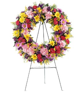 Eternity Wreath in Bakersfield CA, White Oaks Florist