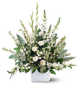 White Expressions Basket in Hudson, New Port Richey, Spring Hill FL, Tides 'Most Excellent' Flowers