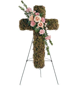 Pink Bouquet Cross in Pensacola FL, KellyCo Flowers & Gifts