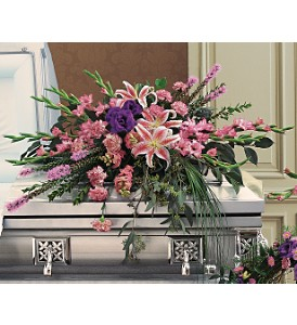 Triumphant Casket Spray in Timmins ON, Timmins Flower Shop Inc.