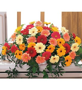 Uplifting Thoughts Casket Spray in Topeka KS, Stanley Flowers, Inc.