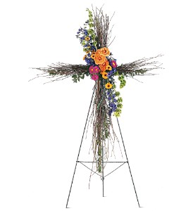 Birch Compassion Cross in Indianapolis IN, Gillespie Florists