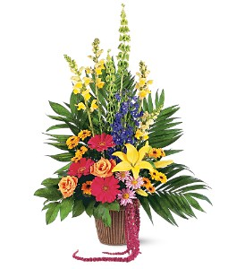 Celebration of Life Arrangement in Raleigh NC, Bedford Blooms & Gifts