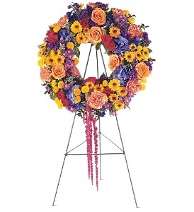 Celebration Wreath in Fairfield CT, Hansen's Flower Shop and Greenhouse