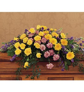 Eternal Hope Casket Spray in Oklahoma City OK, Array of Flowers & Gifts