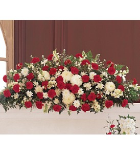 Hope and Honor Casket Spray in Oklahoma City OK, Array of Flowers & Gifts