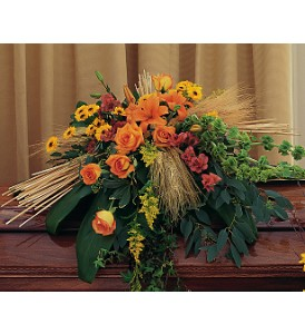 Autumn Faith Casket Spray in Oklahoma City OK, Array of Flowers & Gifts