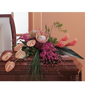 Tropical Paradise Casket Spray in Randallstown MD, Raimondi's Funeral Flowers