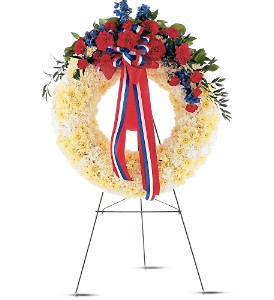 Patriotic Spirit Wreath in Fairfield CT, Hansen's Flower Shop and Greenhouse