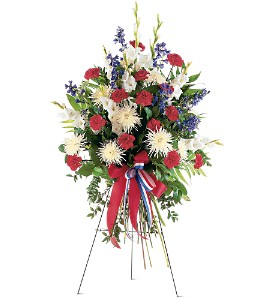 Patriotic Spirit Spray in Oklahoma City OK, Array of Flowers & Gifts