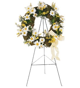 Drop of Sunshine Wreath in Indianapolis IN, Gillespie Florists