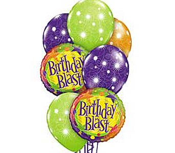 Birthday Blast Theme Balloon Bouquet in Lawrence KS, Englewood Florist
