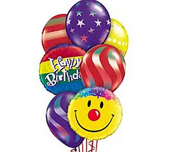 Birthday Smiles Theme Balloon Bouquet in Lawrence KS, Englewood Florist