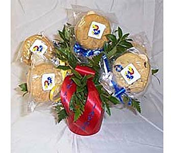 Jayhawk Cookie Bouquet in Lawrence KS, Englewood Florist
