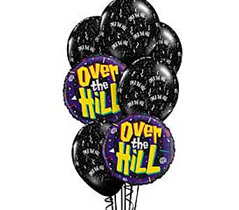 Over The Hill Theme Balloon Bouquet in Lawrence KS, Englewood Florist