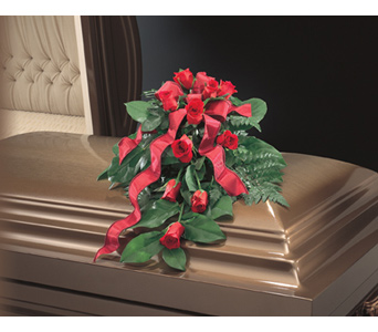 Red Rose Bouquet Casket Spray in Royal Oak MI, Irish Rose Flower Shop
