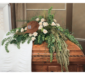 Irish Casket Spray in Royal Oak MI, Irish Rose Flower Shop