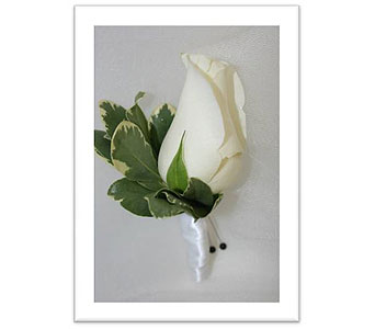 Single Rose Boutonniere in Hudson NH, Anne's Florals & Gifts