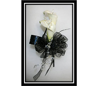 Double Mini Calla Lily Wristlet Corsage in Hudson NH, Anne's Florals & Gifts