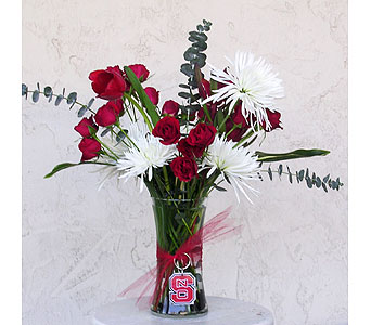 Wolfpack Arrangement in Raleigh NC, North Raleigh Florist