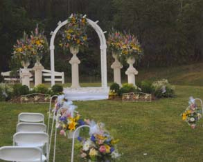 Wedding Aisle and Platform in Cabool MO, Cabool Florist At Cleea's