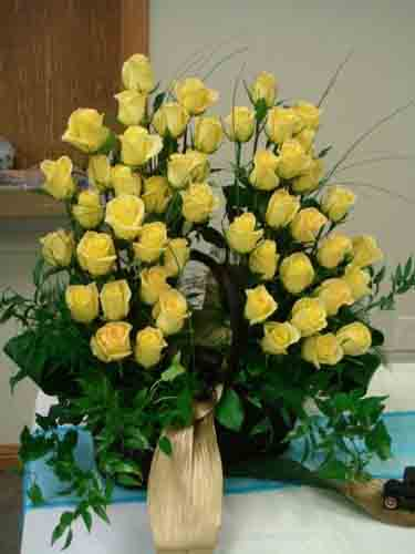 50 Yellow Roses in Cabool MO, Cabool Florist At Cleea's
