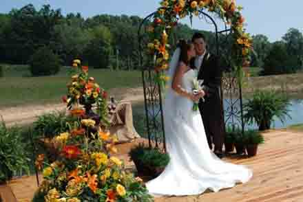 Fall Outdoor Wedding Extravagansa  in Cabool MO, Cabool Florist At Cleea's