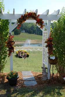 Silk Flower Archway Wedding Entrance in Cabool MO, Cabool Florist At Cleea's
