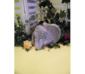 Garden Angel Lying in Owensboro KY, Welborn's Floral Company