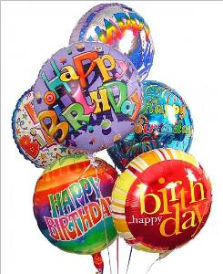 Happy Birthday Mylar Balloon Bouquet in Kennett Square PA, Barber's Florist Of Kennett Square