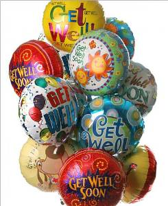 Get Well Mylar Balloon Bouquet in Kennett Square PA, Barber's Florist Of Kennett Square