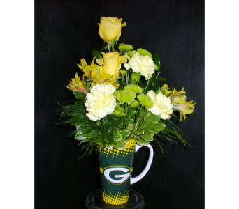 Green Bay Packers Mug in Fond Du Lac WI, Haentze Floral Co