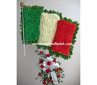 Italian Flag in Jersey City NJ, Entenmann's Florist