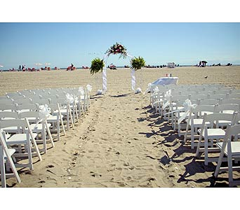 Beach Wedding 1 in Tuckahoe NJ, Enchanting Florist & Gift Shop