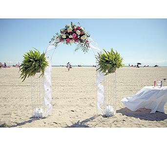 Beach Wedding 2 in Tuckahoe NJ, Enchanting Florist & Gift Shop