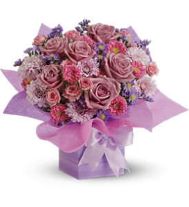 Teleflora's Perfectly Purple Present - Deluxe in Hendersonville TN, Brown's Florist