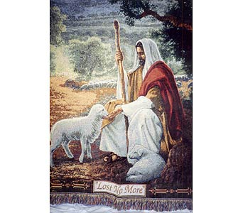 Jesus with Lamb Afghan in Dry Ridge KY, Ivy Leaf Florist