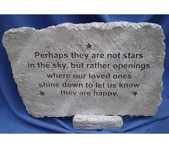 stars in the sky large garden stone in Dover OH, Baker Florist, LLC