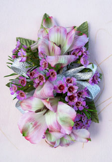 4 Alstroemeria Pin-On Corsage (Metro-Detroit Only) in Southfield MI, Thrifty Florist