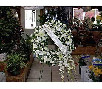 All White Wreath in St. Petersburg FL, Andrew's On 4th Street Inc