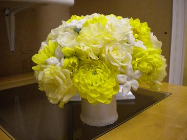 Simply Yellow bridal bouquet in Bensenville IL, The Village Flower Shop