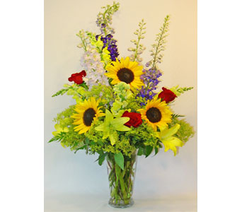 Summer Sunflowers in Amherst NY, The Trillium's Courtyard Florist