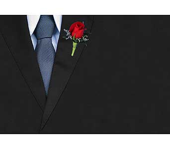 Red Rose Boutonniere in Dallas TX, In Bloom Flowers, Gifts and More