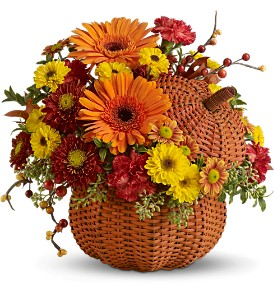 Teleflora's Wicker Pumpkin Bouquet in Metropolis IL, Creations The Florist